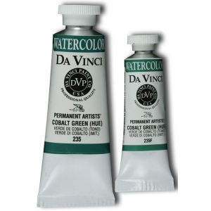 Da Vinci Artists' Watercolor Paint 15ml Cobalt Green Hue: Green, Tube, 15 ml, Watercolor, (model DAV235F), price per tube