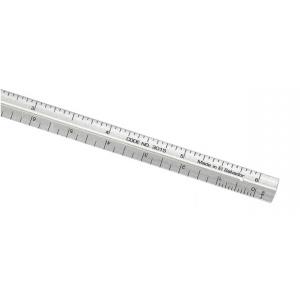 """Alumicolor® 3000 Series 6"""" Silver Aluminum Triangular Engineer Scale: Metallic, Aluminum, 6"""", Engineer, (model 3210-1), price per each"""