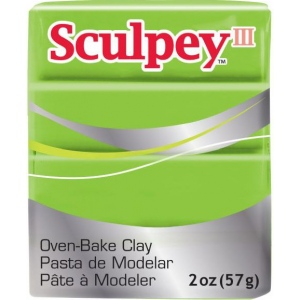 Sculpey® III Polymer Clay Granny Smith; Color: Green; Format: Bar; Material: Polymer; Size: 2 oz; (model S3021629), price per each