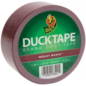 Duck Tape® Color™ Maroon Tape (Roll); Color: Purple; Format: Roll; Size: 20 yd; Type: Color; (model DT1311061), price per each
