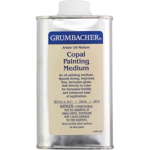 Grumbacher® Copal Painting Medium 236ml; Format: Can; Size: 8 oz; Type: Alkyd; (model GB5878), price per each