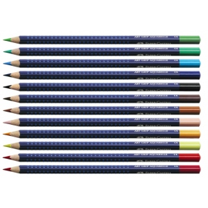 Faber-Castell Art Grip Aquarelle Studio Quality Watercolor Pencil: Light Phthalo Blue
