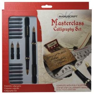 Manuscript Masterclass Calligraphy Set; Color: Multi; Ink Type: Fountain; Tip Size: B-Style; Tip Type: Medium Nib; (model MC146), price per set