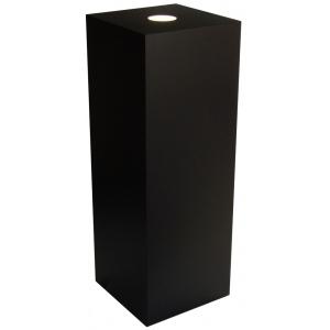 "Xylem Black Laminate Spot Lighted Pedestal: 23"" x 23"" Base, 18"" Height"