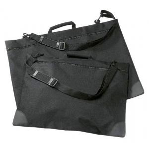 "Prestige™ University™ Series Black Soft-Sided Portfolio 24"" x 27""; Color: Black/Gray; Gusset Size: 1""; Material: Nylon; Size: 24"" x 27""; (model SP2427), price per each"