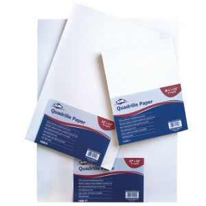 "Alvin® Quadrille Paper 4x4 Grid 100-Sheet Pack 8.5"" x 11""; Format: Pad; Grid Size/Pattern: 4"" x 4""; Quantity: 100 Sheets; Size: 8 1/2"" x 11""; Weight: 20 lb; (model 1430-1), price per 100 Sheets"