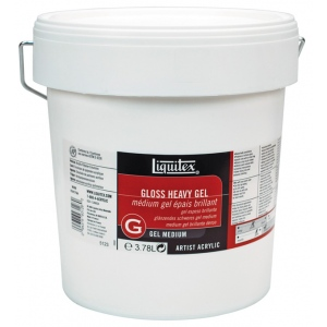 Liquitex® Gloss Heavy Gel Medium 1 gallon: Gloss, 128 oz, Gel, (model 5123), price per each
