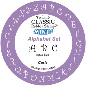 Hampton Art the Little Classic Rubber Stamp Minis: Curlz Alpha