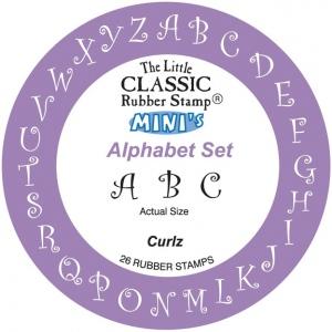 "Hampton Art The Little Classic Rubber Stamp® Mini Curlz Alpha: Rubber, Mounted, 3/8"", (model HALC9292), price per pack"