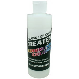 Createx™ Airbrush Top Coat Gloss 8oz; Format: Bottle; Size: 8 oz; Type: Airbrush; (model 5604-08), price per each