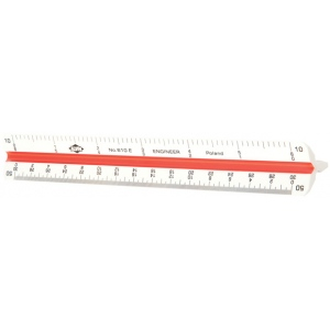Alvin 600 Series 6'' Plastic Triangular Scale: Engineer (610E)