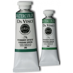 Da Vinci Artists' Watercolor Paint 15ml Viridian Green: Green, Tube, 15 ml, Watercolor, (model DAV290F), price per tube