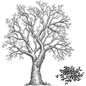 Sarasota Stamps Mounted Rubber Stamp Tree & Foliage; Material: Rubber; Mounted: Yes; (model SSL-3160), price per each