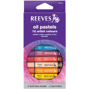 Reeves™ Large Oil Pastel 12-Color Set: Multi, (model 4880585), price per set