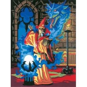 "Royal & Langnickel® Painting by Numbers™ 8 3/4 x 11 3/8 Junior Small Set Sorcerer; Board Size: 8 3/4"" x 11 3/8""; (model PJS14), price per set"