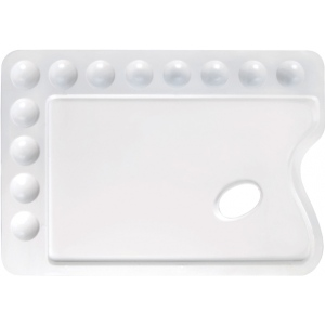 "Heritage Arts™ Rectangular Plastic Palette 13 3/4 x 9 3/4: Plastic, 12 Wells, Rectangle, 9 3/4"" x 13 3/4"", (model CW168), price per each"