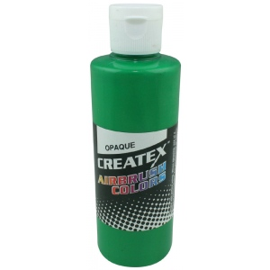 Createx™ Airbrush Paint 4oz Opaque Light Green; Color: Green; Format: Bottle; Size: 4 oz; Type: Airbrush; (model 5205-04), price per each