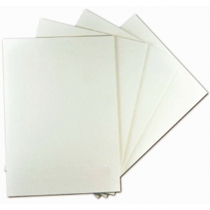 "Alvin® White On White Presentation Board 30 x 40; Color: White/Ivory; Format: Sheet; Quantity: 25 Sheets; Size: 30"" x 40""; Type: Presentation Board; (model PW3040-25), price per 25 Sheets box"