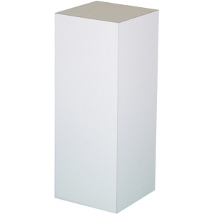 "White Laminate Pedestal: 15"" x 15"" Base, 12"" Height"