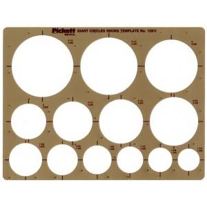 "Pickett® Circles Template: 1 1/2"" - 3 1/2"", (model 1201I), price per each"