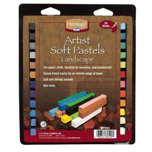 Heritage Arts™ Artist Soft Landscape 24-Color Pastel Set: Multi, Stick, Soft, (model ASP24LS), price per set