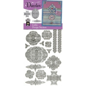 "Dazzles™ Stickers Celtic Silver; Color: Metallic; Size: 4"" x 9""; Type: Outline; (model HOTP2032), price per each"