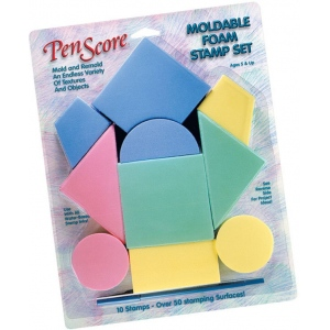 MagicStamp™ Moldable Foam Stamp Geometrics; Material: Foam; Mounted: No; Type: Stamp; (model CS10000), price per set