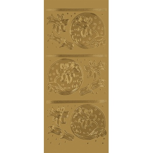"Blue Hills Studio™ DesignLines™ Outline Stickers Gold #19: Metallic, 4"" x 9"", Outline, (model BHS-DL019), price per pack"