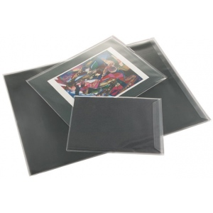 "Prestige™ Art Envelope 18"" x 24""; Color: Black/Gray; Material: Vinyl; Size: 18"" x 24""; (model AE1824-6), price per pack"