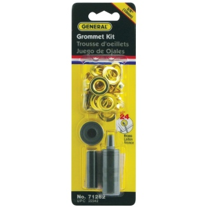 "General® Grommet Kit 3/8""; Color: Metallic; Material: Steel; Shape: Round; Size: 3/8""; (model G71262), price per kit"