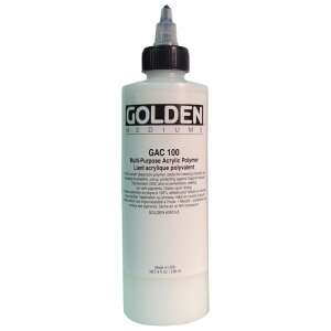 Golden® GAC 100 Acrylic Series Medium 8 oz.; Size: 236 ml, 8 oz; Type: Acrylic Painting; (model 0003910-5), price per each
