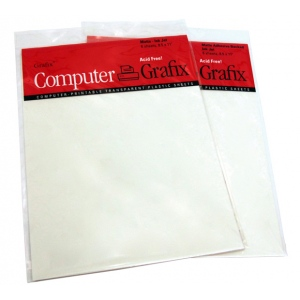 "Grafix® Matte Adhesive Inkjet Film; Color: White/Ivory; Format: Sheet; Size: 8 1/2"" x 11""; Texture: Adhesive; Type: Matte; (model KMAI811-6), price per each"