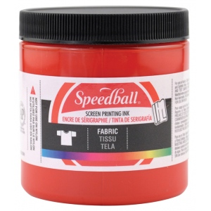 Speedball® 8 oz. Fabric Screen Printing Ink Red; Color: Red/Pink; Format: Jar; Ink Type: Fabric; Size: 8 oz; Type: Screen Printing; (model 4561), price per each