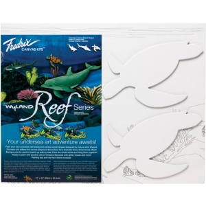 "Fredrix® Wyland® Sea Turtles Reef Series; Format: Panel/Board; Size: 11"" x 14""; (model T2594), price per set"
