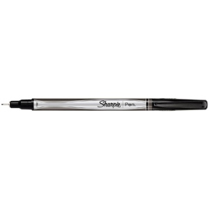 Sharpie® Black Pen: Black/Gray, Fine Nib, (model SN1742663), price per each