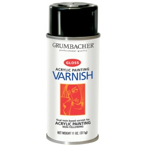 Grumbacher® Hyplar Gloss Varnish Spray; Finish: Gloss; Format: Spray Can; Size: 11 oz; Type: Varnish; (model GB547), price per each