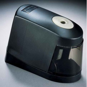 Stanley® Battery Pencil Sharpener; Color: Black/Gray; Holes: One; Material: Plastic; Type: Electric; (model 02697), price per each