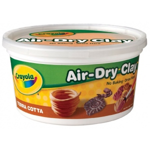Crayola® Air-Dry Clay 2.5lb Terra Cotta; Color: Brown; Quantity: 2 1/2 lb; Size: 2.5 lb; Type: Air Dry, Craft; (model 57-5064), price per each
