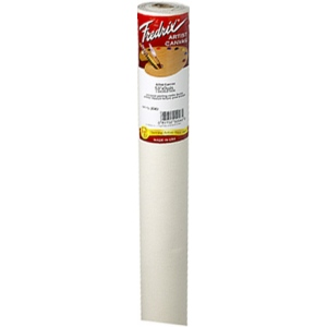 """Fredrix® Artist Series 53 x 3yd Cotton Acrylic Primed Canvas: White/Ivory, Roll, Cotton, 53"""" x 3 yd, Acrylic, Primed, (model T2043), price per roll"""