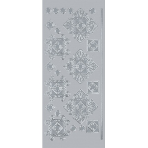 "Blue Hills Studio™ DesignLines™ Outline Stickers Silver #36; Color: Metallic; Size: 4"" x 9""; Type: Outline; (model BHS-DL036), price per pack"