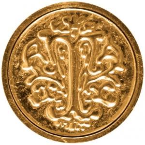 """Manuscript Initial Ceramic Mini Seal T; Shape: Round; Size: 3/4""""; (model MSH725T), price per each"""
