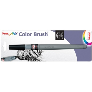 Pentel® Medium Point Pigment Pen: Black/Gray, Pigment, Brush Nib, (model FP5MBPA), price per each