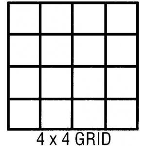 "Clearprint® 1000H Series 18 x 24 Vellum 10-Sheet Pack 4x4 Grid: Sheet, 4"" x 4"", 10 Sheets, 18"" x 24"", 16 lb, (model CP10204222), price per 10 Sheets"