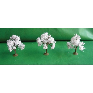 "Wee Scapes Architectural Model Trees: Cherry, 2 1/4"" to 2 1/2"", Pack of 3"