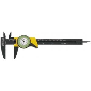 "General® 6"" Precision Swiss Dial Caliper; Color: Black/Gray; Material: Plastic; Size: 6""; Type: Caliper; (model 80D), price per each"