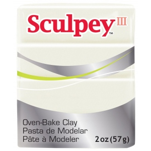 Sculpey® III Polymer Clay Pearl: White/Ivory, Bar, Polymer, 2 oz, (model S3021101), price per each