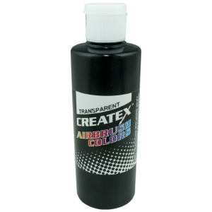 Createx™ Airbrush Paint 4oz Black; Color: Black/Gray; Format: Bottle; Size: 4 oz; Type: Airbrush; (model 5132-04), price per each
