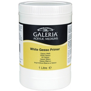 Winsor & Newton™ Galeria™ Acrylic White Gesso Primer; Color: White/Ivory; Size: 1 ltr; Type: Gesso; (model 3054948), price per each