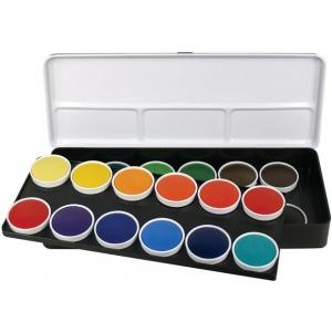 Finetec Watercolor Paint Transparent 24-Color Set: Multi, Pan, Watercolor, (model LT24), price per set