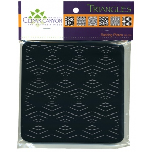 "Cedar Canyon Textiles Triangles Rubbing Plate Set; Color: Black/Gray; Size: 7"" x 7""; Type: Rubbing Plate; (model CCT4000), price per set"